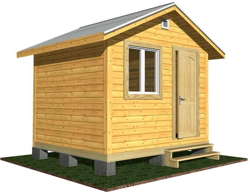 Дом деревянный каркасный 3х3 Пермь