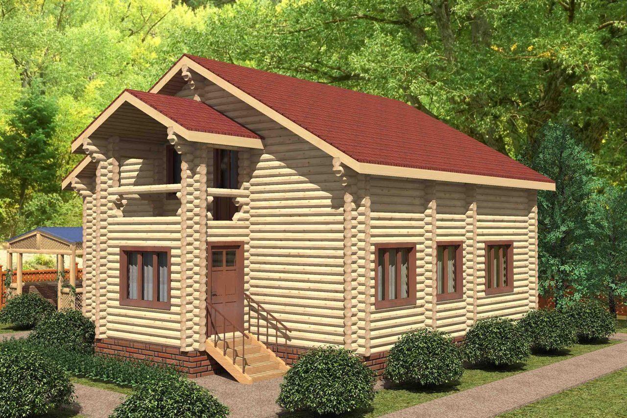 Проекты деревянных домов из оцилиндрованного бревна в Челяби.